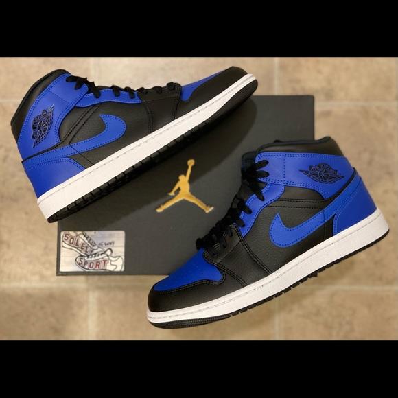 NEW Nike Air Jordan 1 Retro Mid Royal Blue Black
